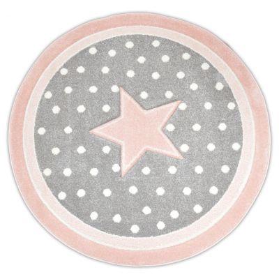Dywan Diamond Gwiazda 91788 Szaro Różowy Koło Multidecor