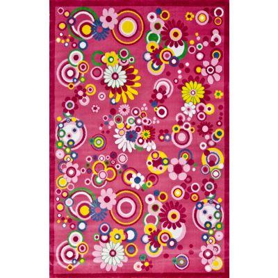 Dywan Super Kids 3224 Różowe Kwiaty Dywany Dywany Dla