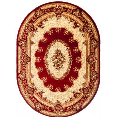 Dywan Kartal YESEMEK 5889A red 3D owal Kartal Carpets